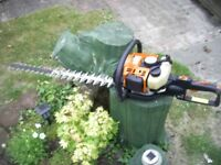 STIHL HEDGE TRIMMERS AND MAKITA SAW
