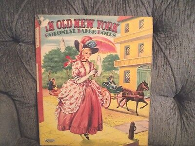 Vintage In Old New York Colonial Paper Dolls 1950's
