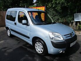 2007 57 PEUGEOT PARTNER 1.4 COMBI TOTEM FULL MOT FSH LOW 60K DISABILITY RAMP WITH WHINCH AC PX SWAPS