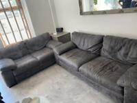 Leather sofa 2 seater & 4 seater