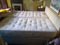 Twin divan beds used as a king-size bed. Great condition