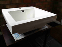 white square vanity sink for cloakroom new 16 x 16 x 6.5 inches