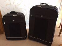 Two Carlton Expandable Trolley Suitcases