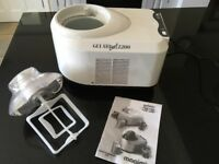 Ice cream making machine Magimix Gelato Chef 2200. Very little used in excellent condition.