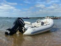 Zodiac Yachtline 420 with Etec Evinrude 40HP Outboard