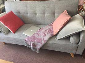 BoCastle 3 Seater Light Grey Sofa Bed