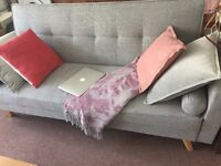 BoCastle 3 Seater Light Grey Sofa Bed