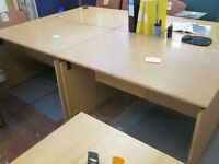 Used Rectangular Beech Desks - Sold Each