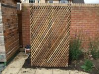woodew trellis feature gardewall criss cross lats H 180cm W107cm see pics£25