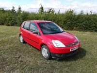 Red Ford Fiesta 2004 Plate Diesel