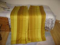 Gold, Yellow, Brown Colour machine washable, ready-made curtains