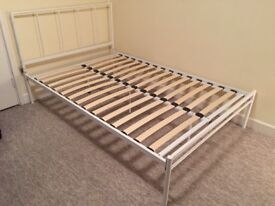 Double single bed + mattress