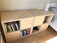 Two IKEA Storage Units (shelves and drawers) good condition