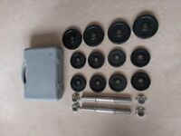 20kg Cast Iron Portable Dumbbell Set With Sturdy Case