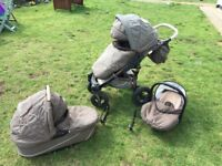 Sports buggy 3 combination (car seat, sports buggy and pram)