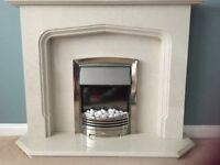 Adagio electric fire with marble surround