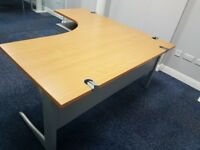 executive managers office desks in beech