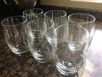 Heavy base glass high ball tumblers