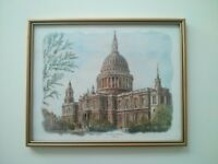Framed Picture - St Paul's Cathedral - 30x24cm