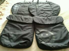 2 foot muffs for twin pushchair
