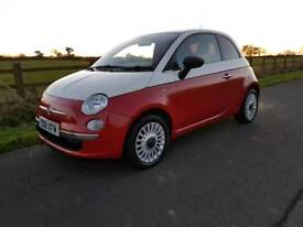 Bargain FIAT 500 POP 1.2 Petrol 36000 miles, Full Service History, factory White/Red Limited Edition
