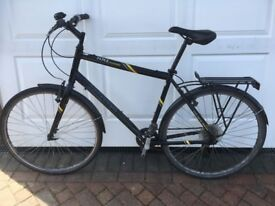 Mongoose 100 Crossway Hybrid Bike in Black