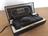 Olympus XA2 35mm film camera + A11 Flash, boxed.