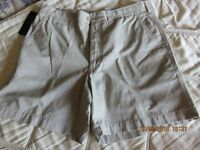 "MARKS AND SPENCER CHINO SHORTS 34"" WAIST"