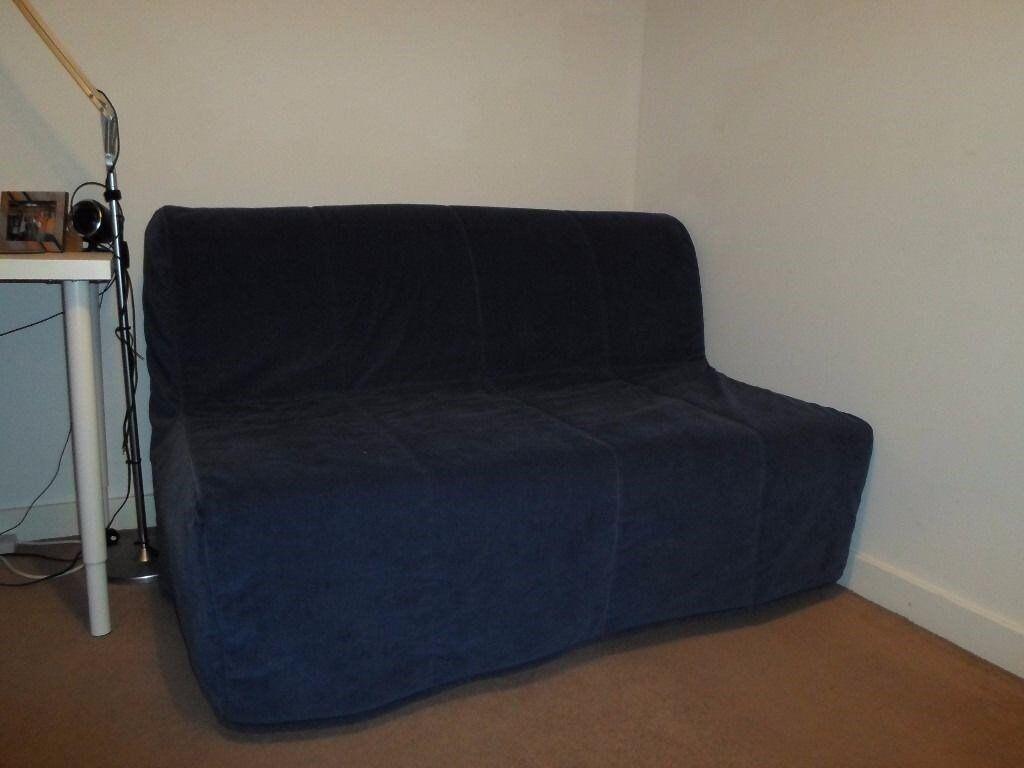 Ikea lycksele lovas sofa bed blue 75 in yorkhill for Sofa bed glasgow