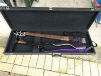 Yamaha Bass Guitar, Strap, Stand and Hard Case.