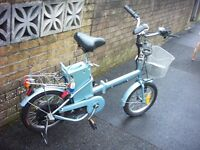 folding electric bike look