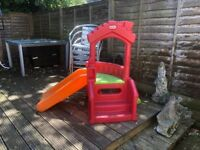 Little tikes slide and Wendy house