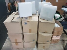 Joblot of 39 x New Metal Square Bulkhead Lights, complete with 2D Lamps - Ballymena Collection
