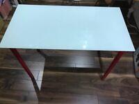 Small Ikea glass desk