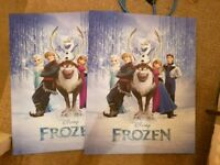 Frozen a3 sized canvases