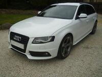 2012 Audi A4 Avant 2.0 TDI Quattro S Line Black Edition Four wheel-drive estate car in Ibis white