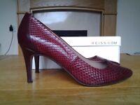 Gorgeous Burgundy REISS Heels - Size 7