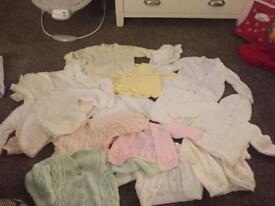 Knitted Baby Cardigans Clothes Bundle 0-6 months Unisex