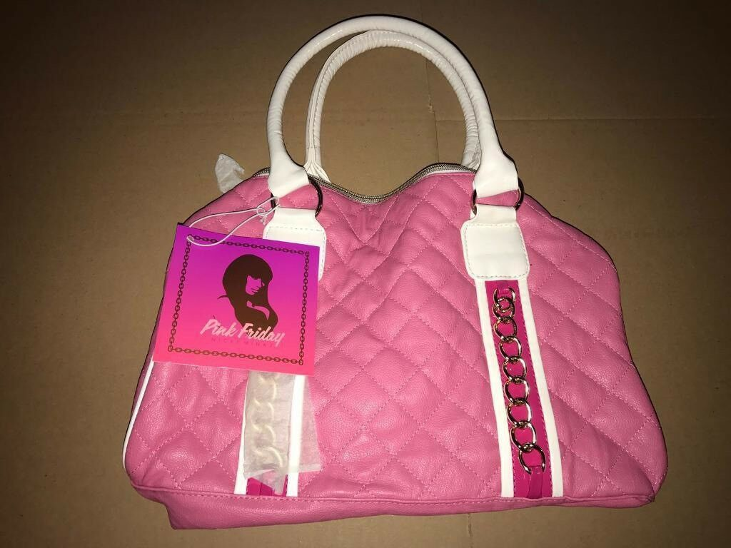 Nikki Minaj PINK FRIDAY Womens Handbag Limited 1st Edition Brand New RARE Leather/Patent 100sales