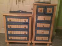 Kids wardrobe and 2 drawers