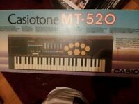 Casio Casiotone mt-520 electronic keyboard drum