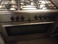 Range silver gas cooker..90cm. Free delivery