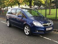 2007 VAUXHALL ZAFIRA SRI 1.9 CDTI 16V 150BHP 6 SPEED AUTOMATIC BLUE 7 SEATER LEATHER