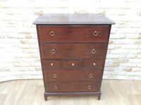 Hardwood Mahogany chest of drawers (Delivery)