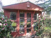 Vintage Cedar Wood Clad Summer House in fair condition