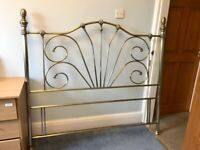Antique Nickel King Size Bed Head