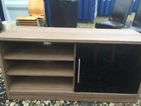Solid wood and smoked glass tv stand and matching side board