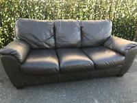 📣 3 & 2 ~ LUXURY BROWN LEATHER ~ SOFA SET SUITE