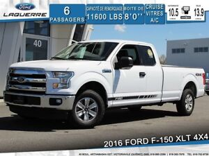 2016 Ford F-150 XLT**4X4*6 PLACES*BLUETOOTH*CRUISE*A/C**