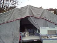 4 berth trailer tent with awning and accessories